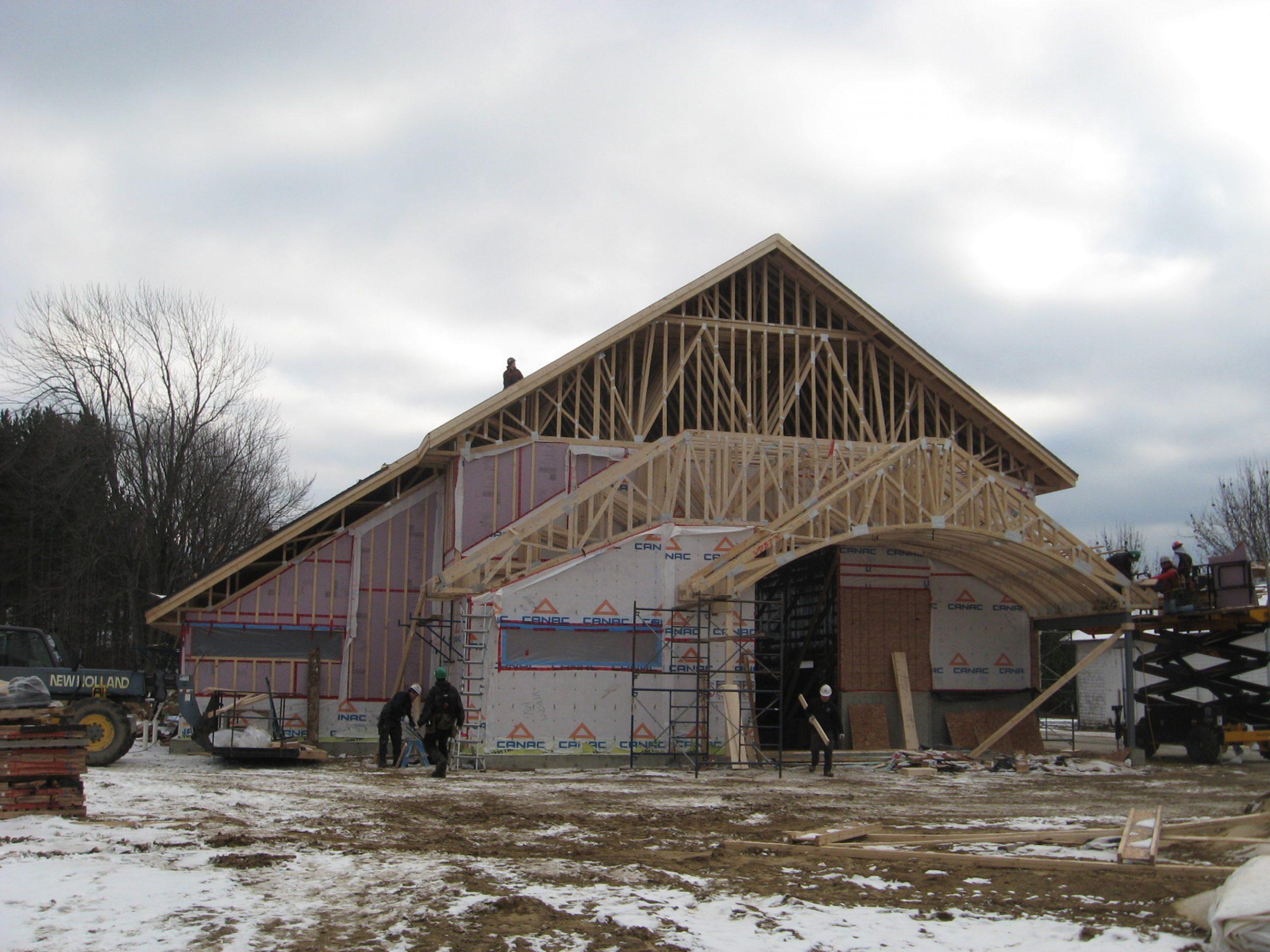 Reconstruction – Centre communautaire et lieu de culte, Municipalité de Ste-Francoise Cecobois 2