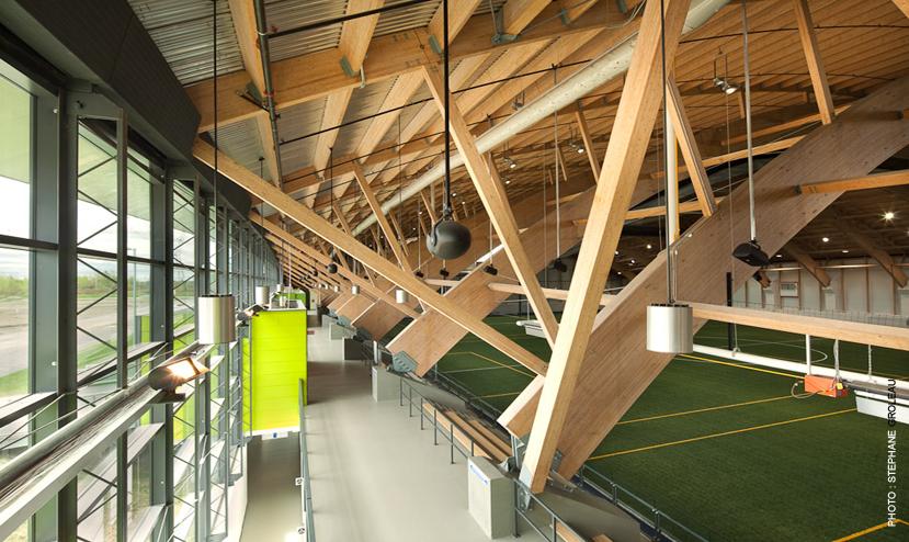 Complexe de soccer intérieur du Parc Chauveau Cecobois 2