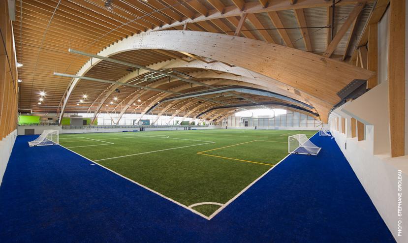 Complexe de soccer intérieur du Parc Chauveau Cecobois 3
