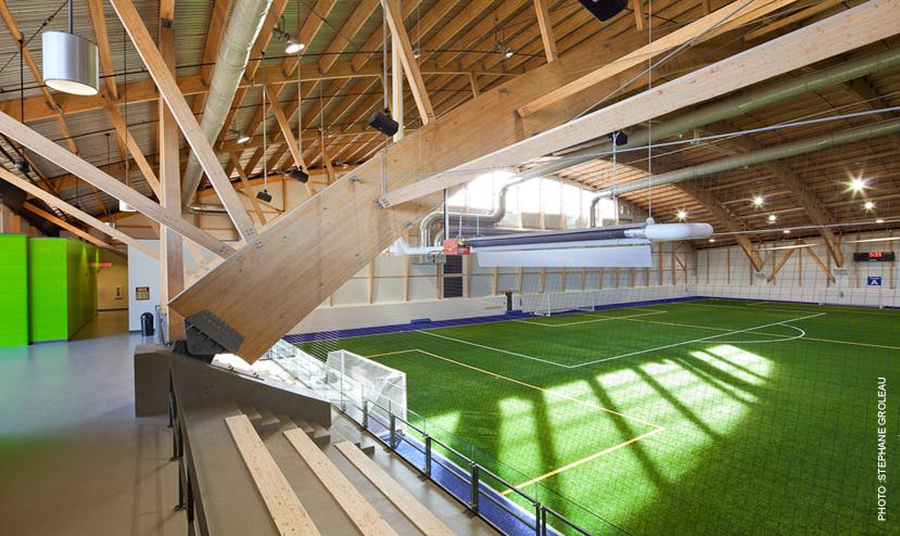 Complexe de soccer intérieur du Parc Chauveau Cecobois 4