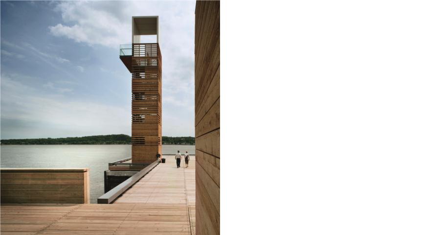 Pavillon et tour du quai des Cageux (Promenade Samuel-de-Champlain) Cecobois 3