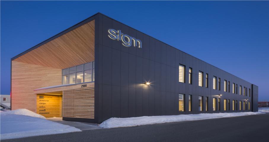 Siège social de STGM architectes Cecobois 1