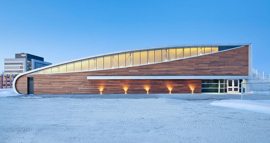Aréna et pavillon de services de l'Universite du Québec à Chicoutimi (UQAC) Cecobois 1