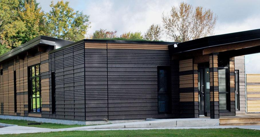 Pavillon d'accueil du parc linéaire du Lac-Saint-Charles Cecobois 3