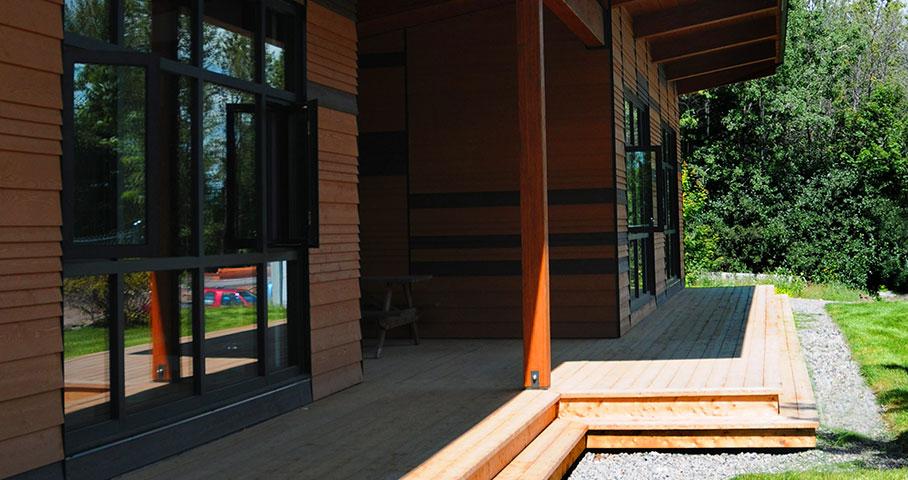 Pavillon d'accueil du parc linéaire du Lac-Saint-Charles Cecobois 5