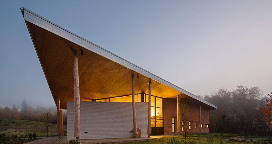 Pavillon d'accueil, Parc National du Lac-Témiscouata Cecobois 1