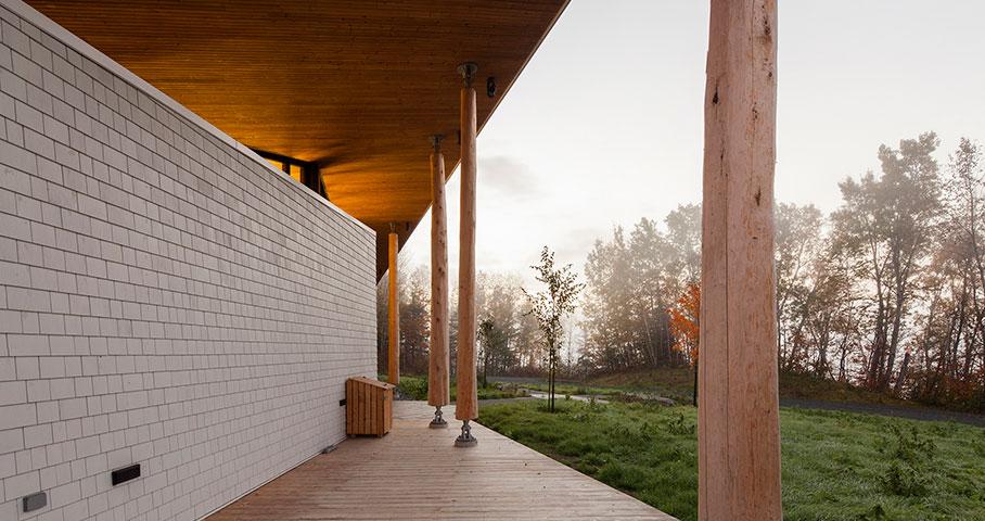 Pavillon d'accueil, Parc National du Lac-Témiscouata Cecobois 3