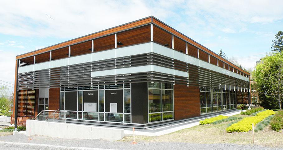 Terminal de collecte des matières résiduelles – Cité Verte Cecobois 1