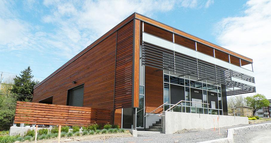 Terminal de collecte des matières résiduelles – Cité Verte Cecobois 2