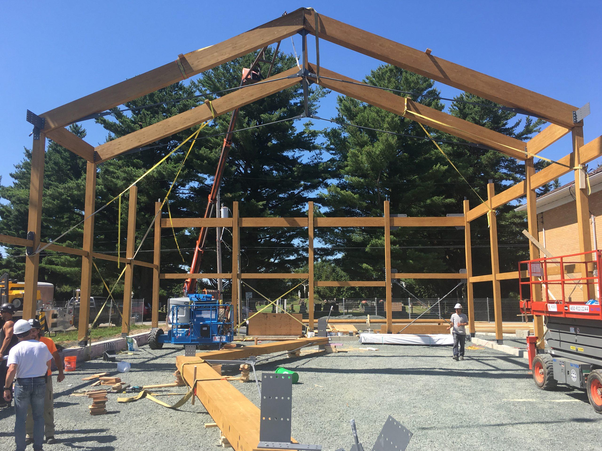 Construction d'un gymnase à l'école Centrale de St-Samuel-de-Horton Cecobois 4
