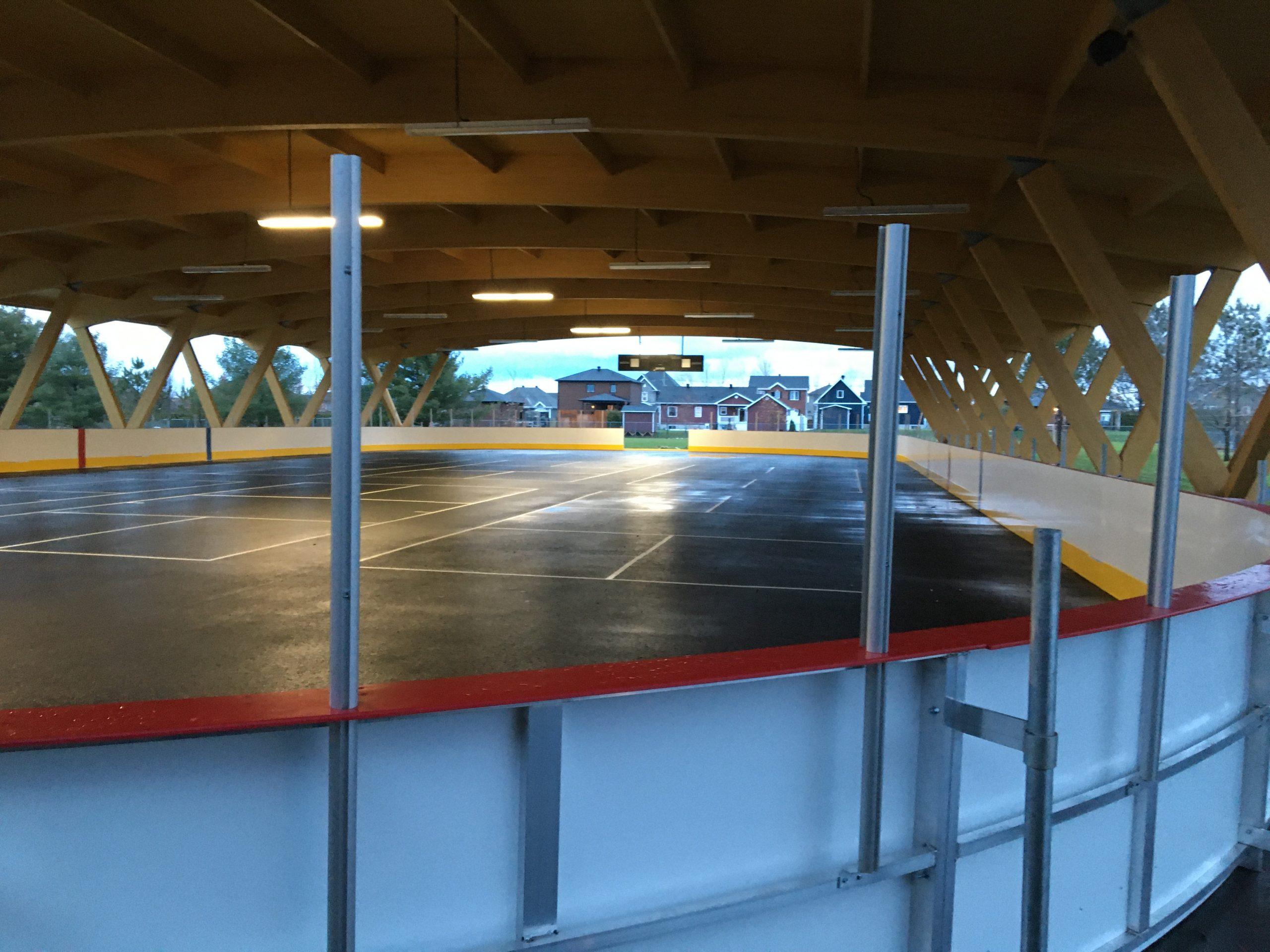 Toiture sur patinoire Cecobois 7
