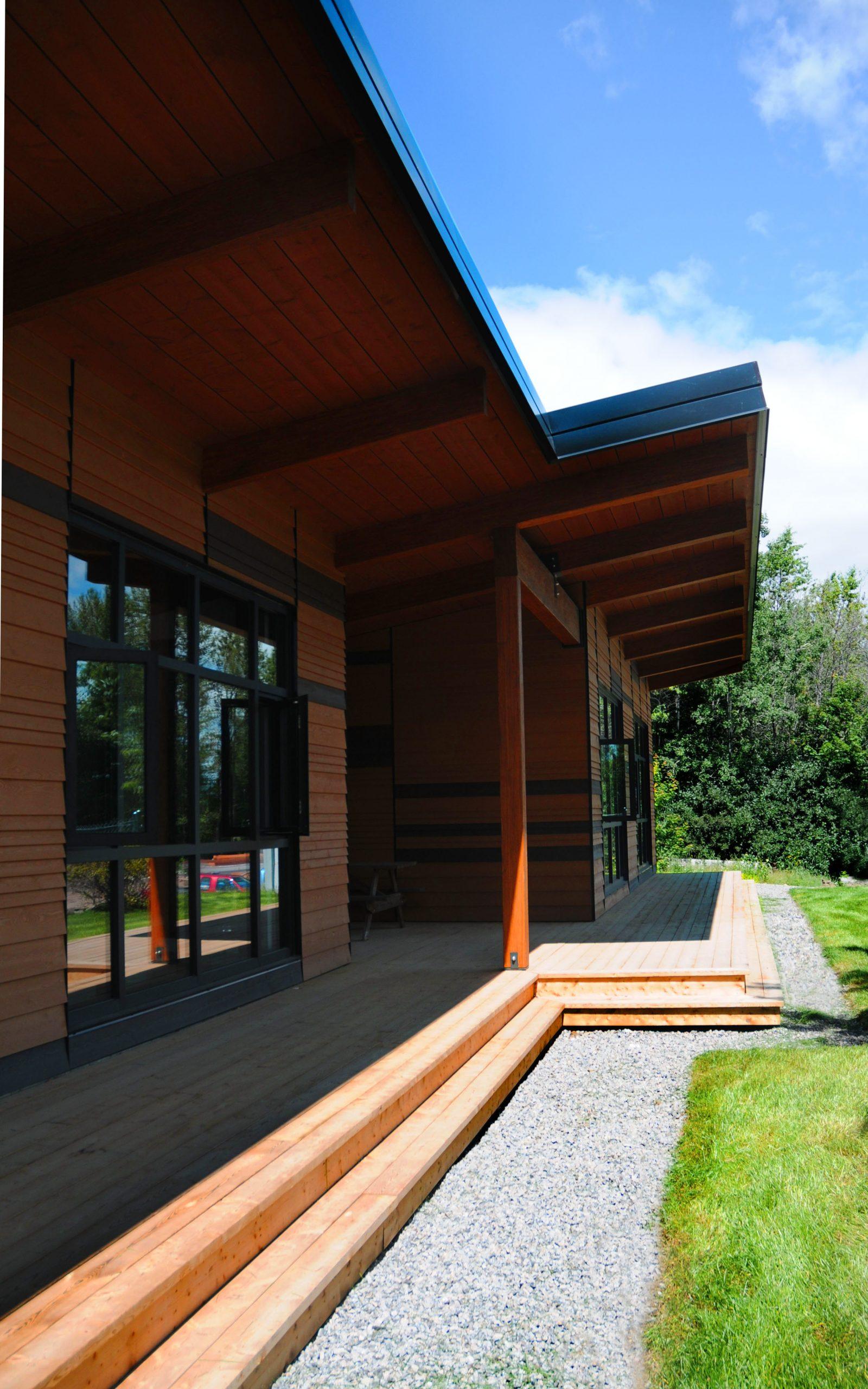 Pavillon d'accueil du Parc linéaire du Lac Saint-Charles Cecobois 5